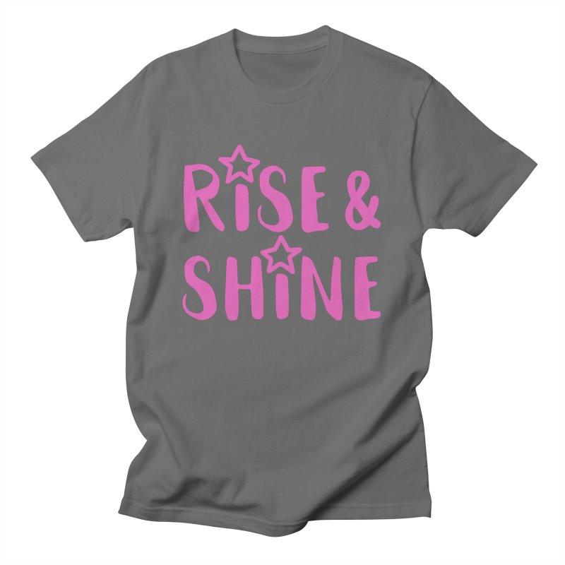 Rise & Shine pink Men's T-Shirt by BubaMara's Artist Shop