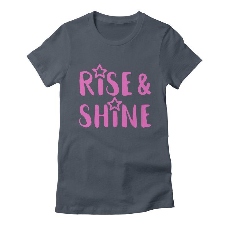 Rise & Shine pink Women's T-Shirt by BubaMara's Artist Shop