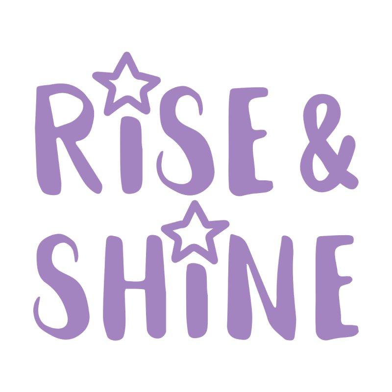 Rise & Shine violet Women's T-Shirt by BubaMara's Artist Shop