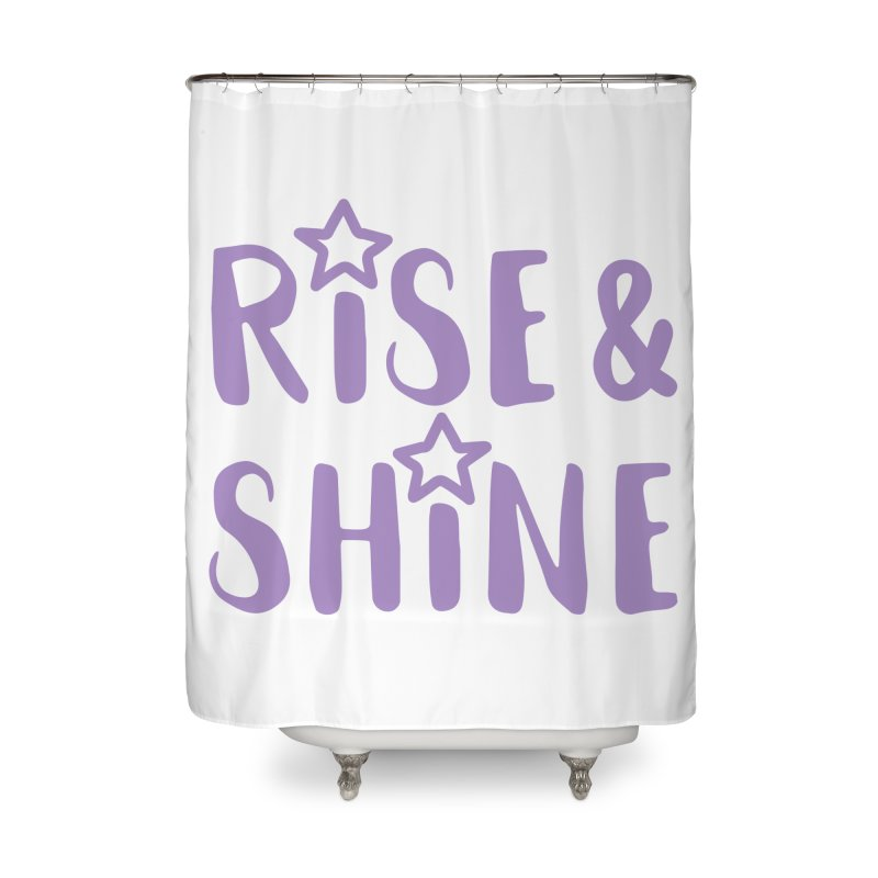 Rise & Shine violet Home Shower Curtain by BubaMara's Artist Shop