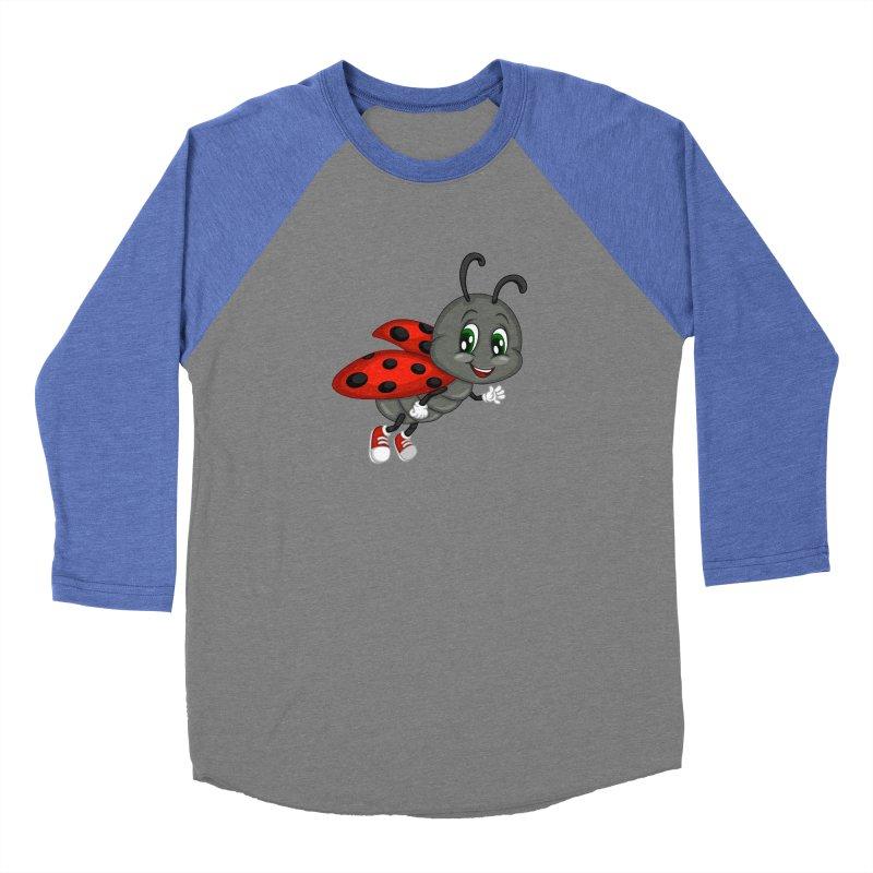 Ladybug Women's Baseball Triblend Longsleeve T-Shirt by BubaMara's Artist Shop