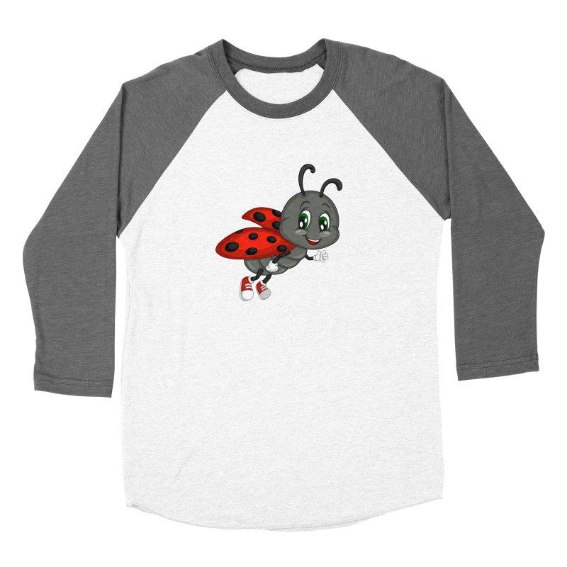 Ladybug Men's Baseball Triblend Longsleeve T-Shirt by BubaMara's Artist Shop