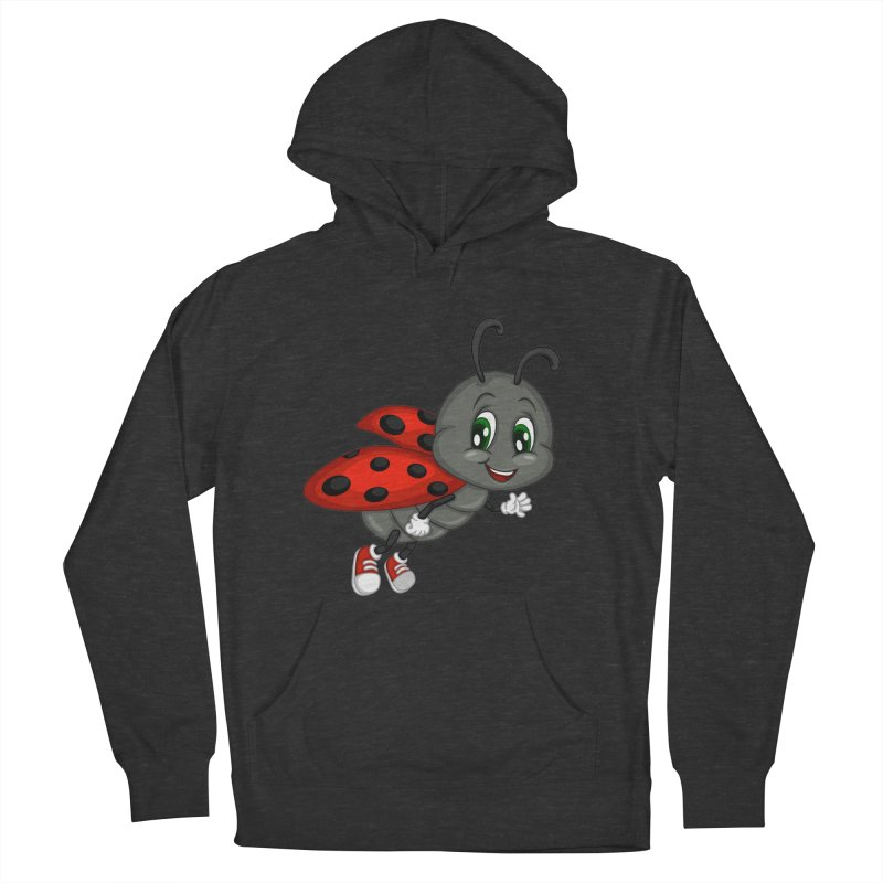 Ladybug Men's French Terry Pullover Hoody by BubaMara's Artist Shop