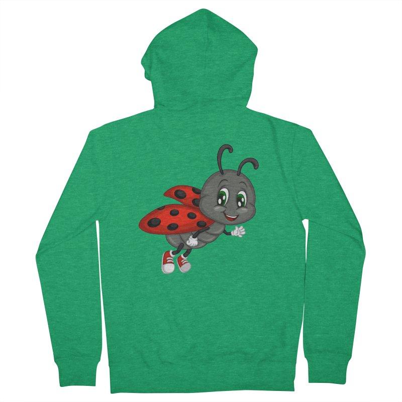 Ladybug Women's French Terry Zip-Up Hoody by BubaMara's Artist Shop
