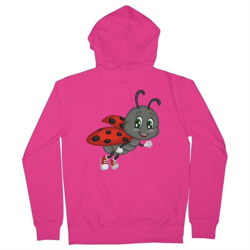 Ladybug Men's French Terry Zip-Up Hoody by BubaMara's Artist Shop