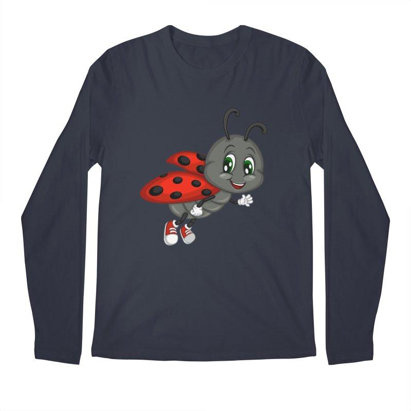 Ladybug Men's Regular Longsleeve T-Shirt by BubaMara's Artist Shop