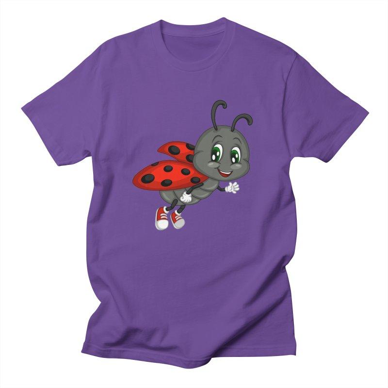 Ladybug Men's Regular T-Shirt by BubaMara's Artist Shop
