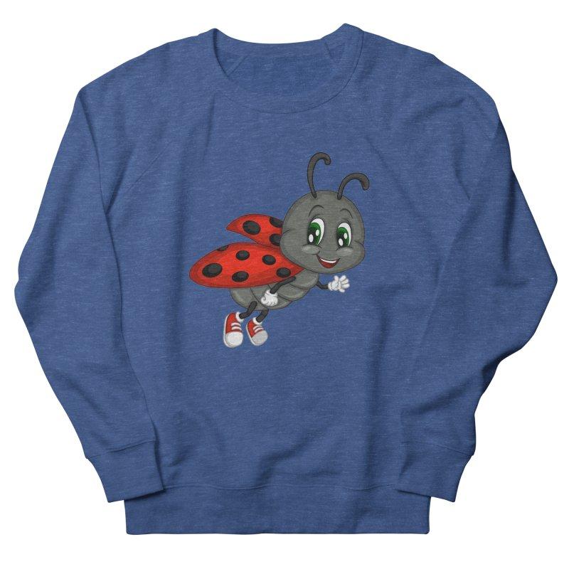 Ladybug Men's French Terry Sweatshirt by BubaMara's Artist Shop