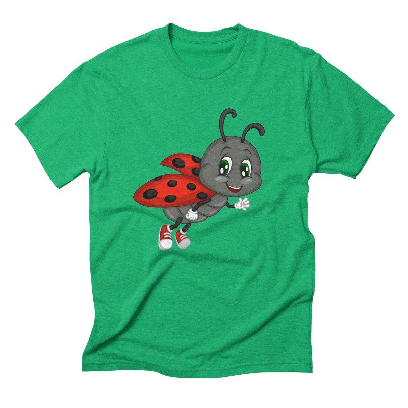 Ladybug Men's Triblend T-Shirt by BubaMara's Artist Shop