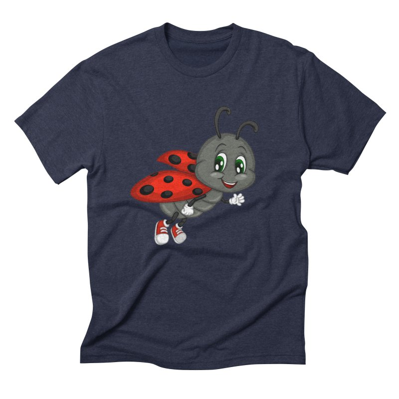 Ladybug Men's Triblend T-Shirt by BubaMara's Artist Shop