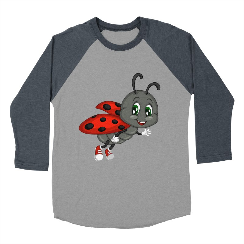 Ladybug Women's Baseball Triblend Longsleeve T-Shirt by BubaMara's Artist Shop