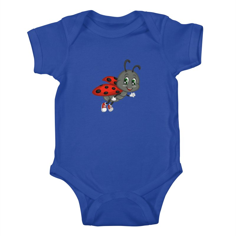 Ladybug Kids Baby Bodysuit by BubaMara's Artist Shop