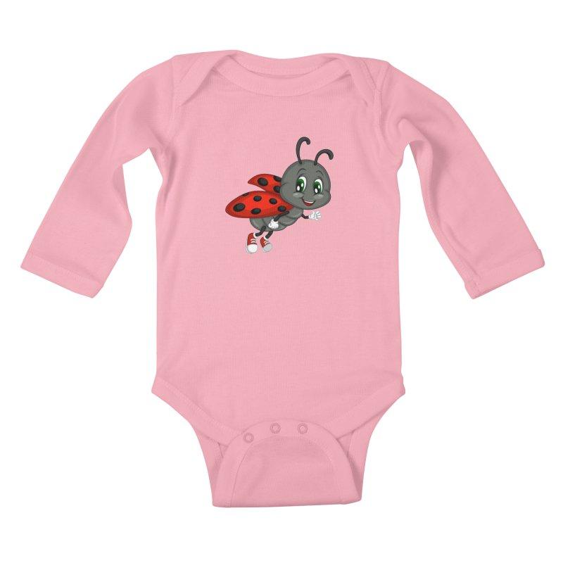 Ladybug Kids Baby Longsleeve Bodysuit by BubaMara's Artist Shop