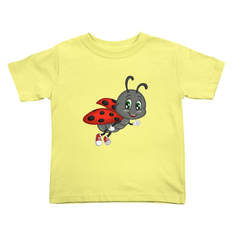 Ladybug Kids Toddler T-Shirt by BubaMara's Artist Shop