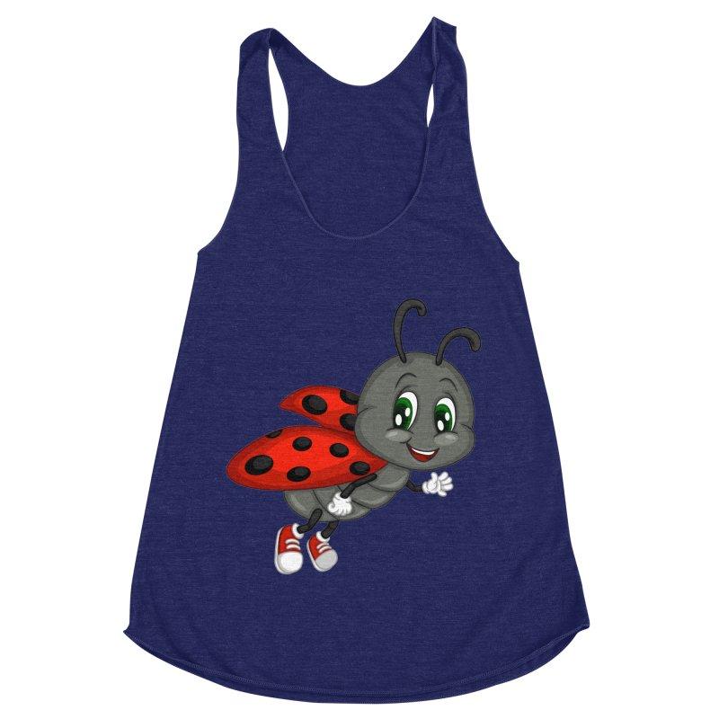 Ladybug Women's Racerback Triblend Tank by BubaMara's Artist Shop