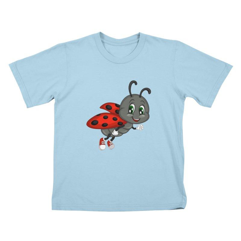 Ladybug Kids T-Shirt by BubaMara's Artist Shop