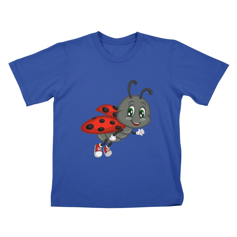 Ladybug Kids T-Shirt by BubaMara's Artist Shop