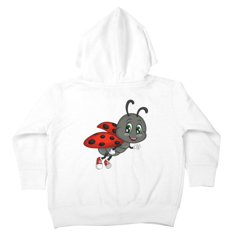 Ladybug Kids Toddler Zip-Up Hoody by BubaMara's Artist Shop