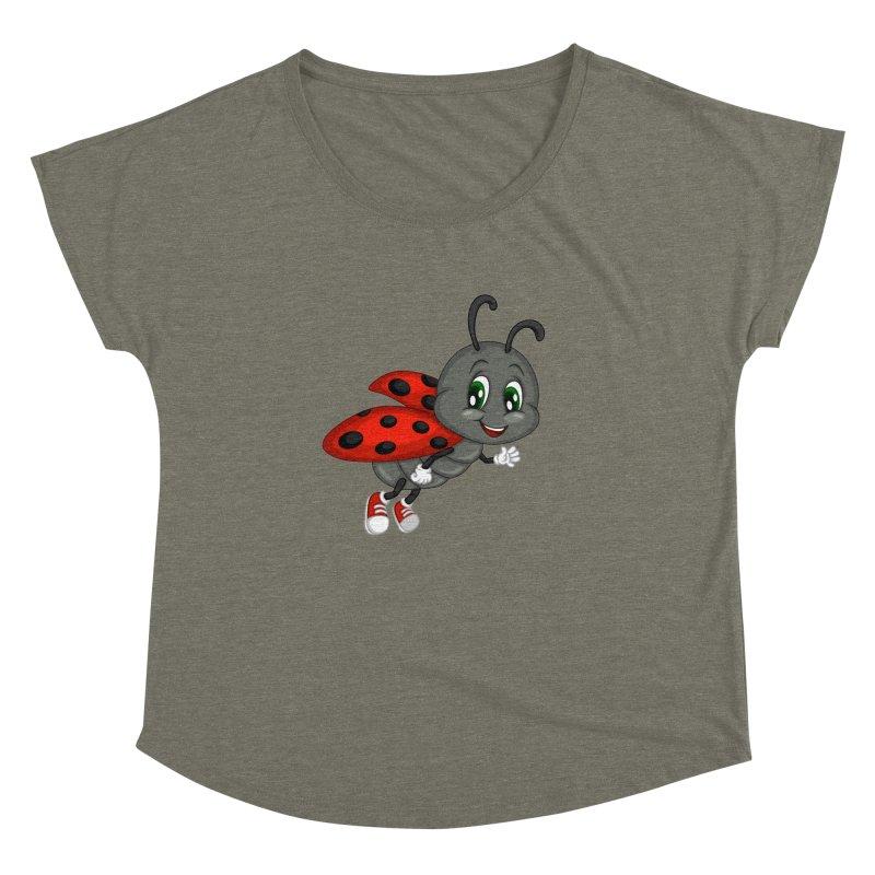 Ladybug Women's Dolman Scoop Neck by BubaMara's Artist Shop