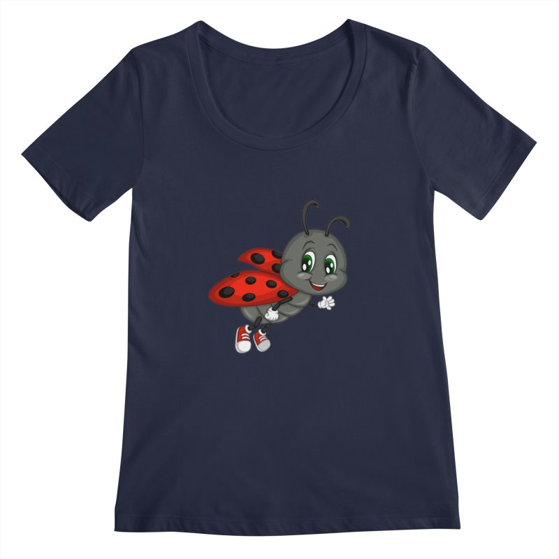 Ladybug Women's Scoopneck by BubaMara's Artist Shop