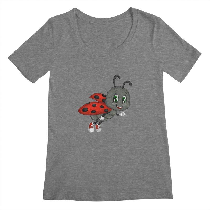 Ladybug Women's Scoopneck by BubaMara's Artist Shop