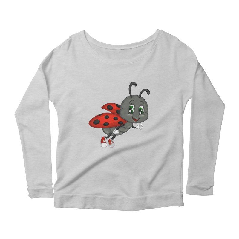 Ladybug Women's Scoop Neck Longsleeve T-Shirt by BubaMara's Artist Shop