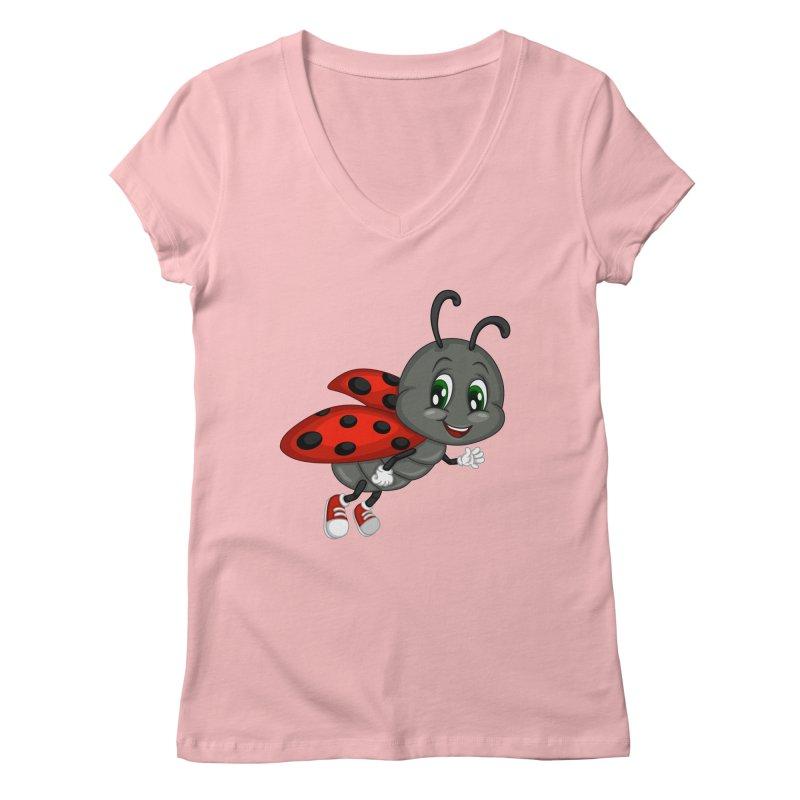 Ladybug Women's Regular V-Neck by BubaMara's Artist Shop