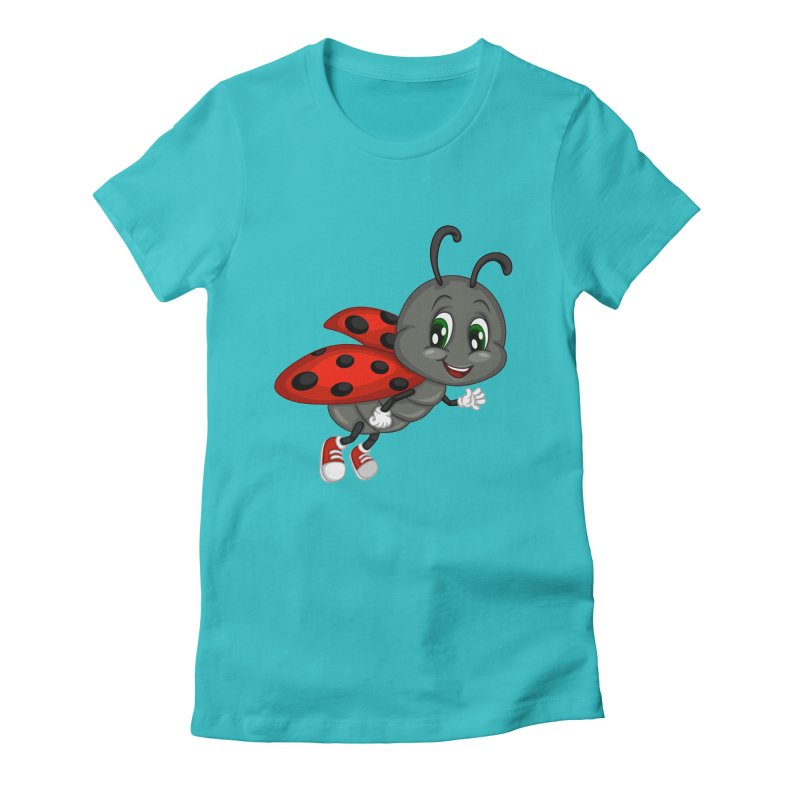 Ladybug Women's Fitted T-Shirt by BubaMara's Artist Shop