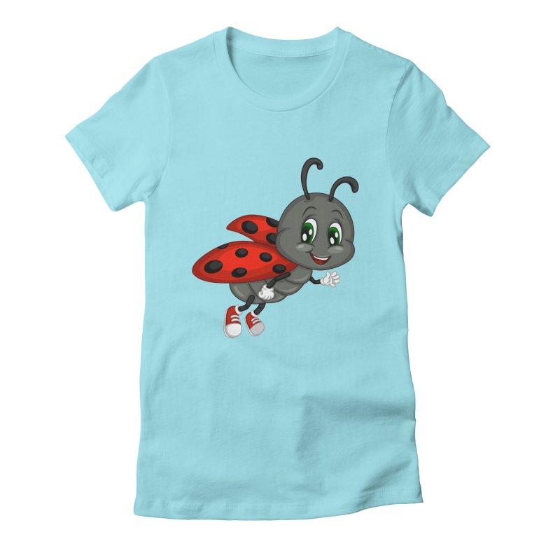 Ladybug Women's Fitted T-Shirt by BubaMara's Artist Shop