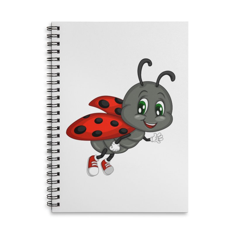 Ladybug Accessories Lined Spiral Notebook by BubaMara's Artist Shop