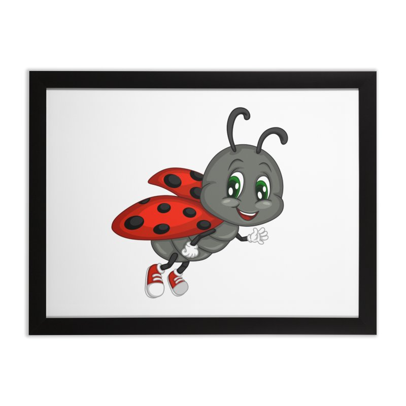 Ladybug Home Framed Fine Art Print by BubaMara's Artist Shop