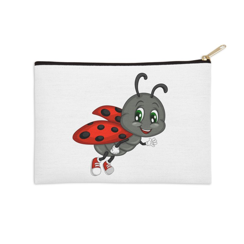 Ladybug Accessories Zip Pouch by BubaMara's Artist Shop