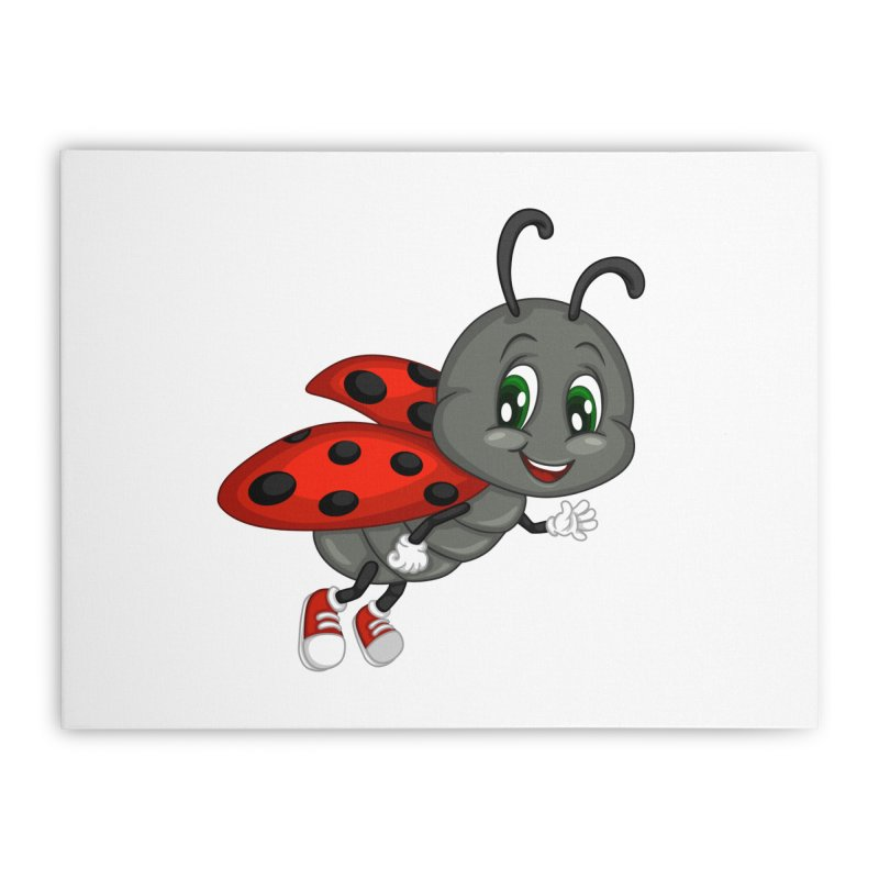 Ladybug Home Stretched Canvas by BubaMara's Artist Shop