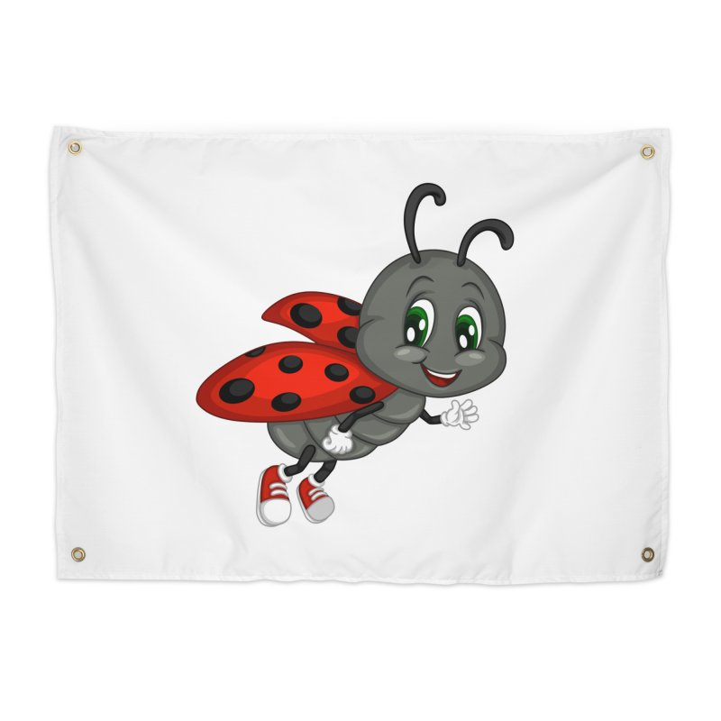 Ladybug Home Tapestry by BubaMara's Artist Shop