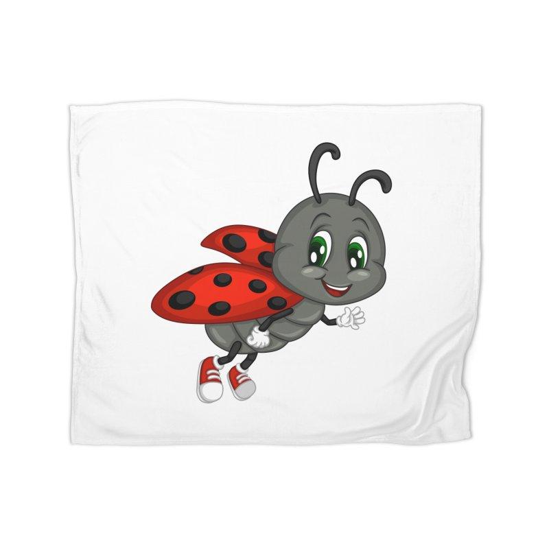 Ladybug Home Fleece Blanket by BubaMara's Artist Shop