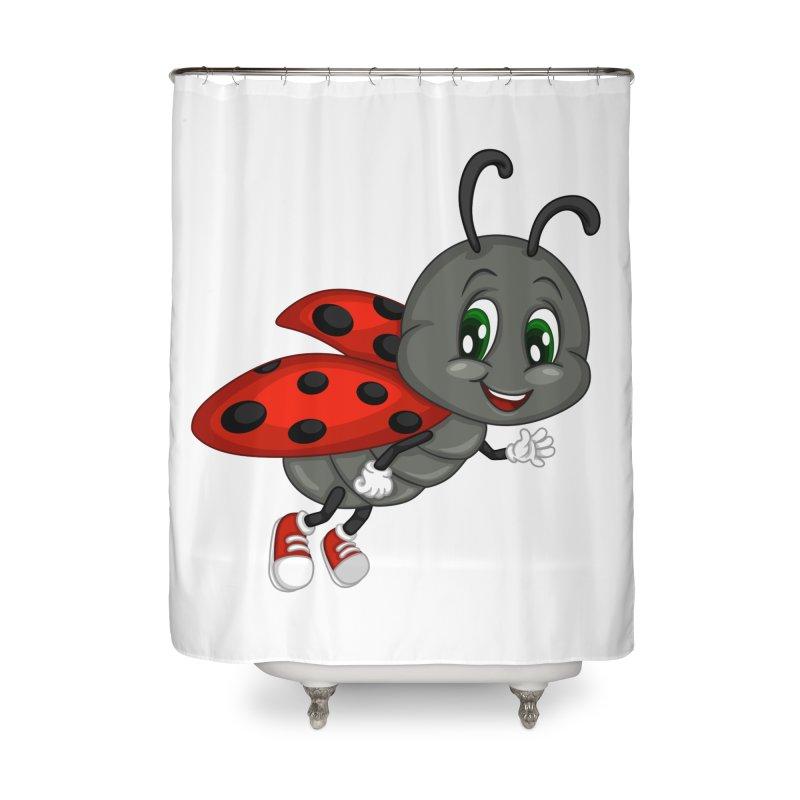 Ladybug Home Shower Curtain by BubaMara's Artist Shop