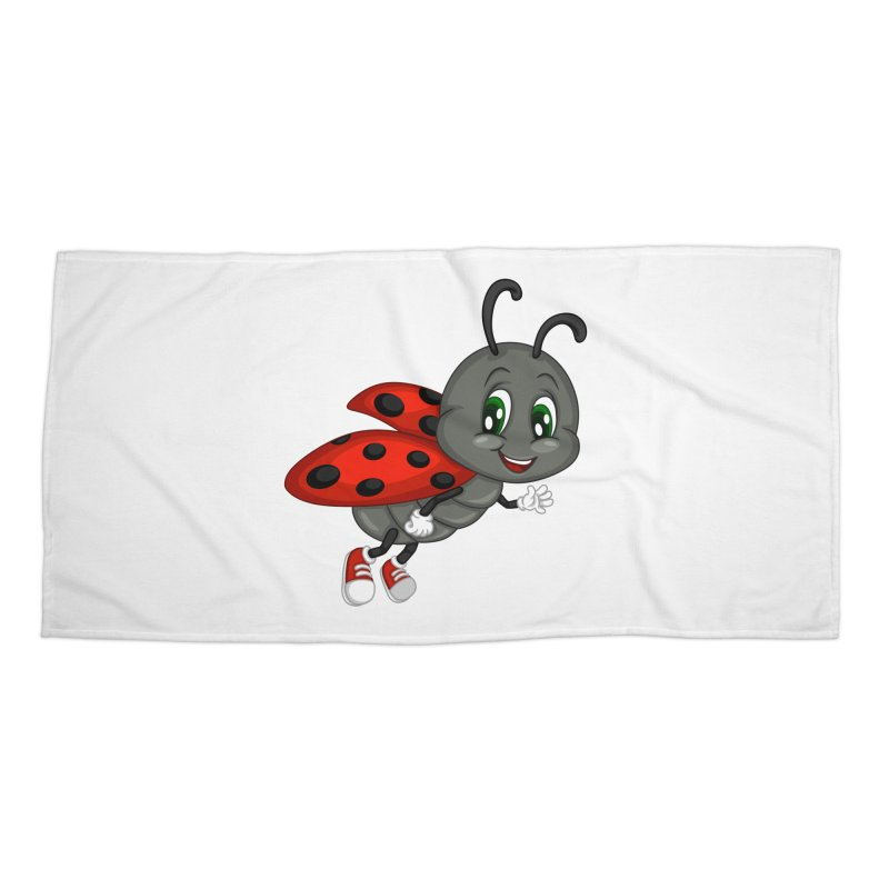 Ladybug Accessories Beach Towel by BubaMara's Artist Shop