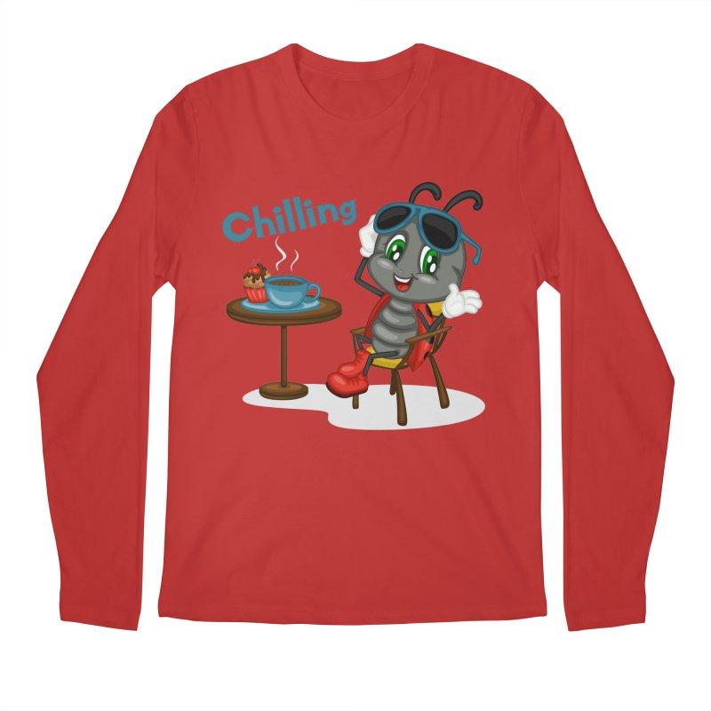 Ladybug Chilling Men's Regular Longsleeve T-Shirt by BubaMara's Artist Shop