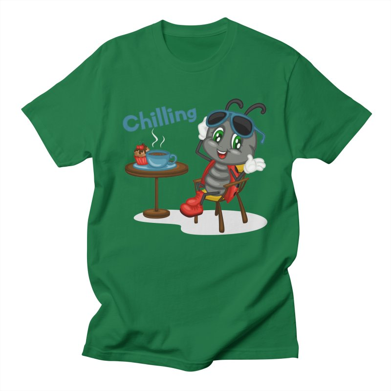 Ladybug Chilling Men's Regular T-Shirt by BubaMara's Artist Shop