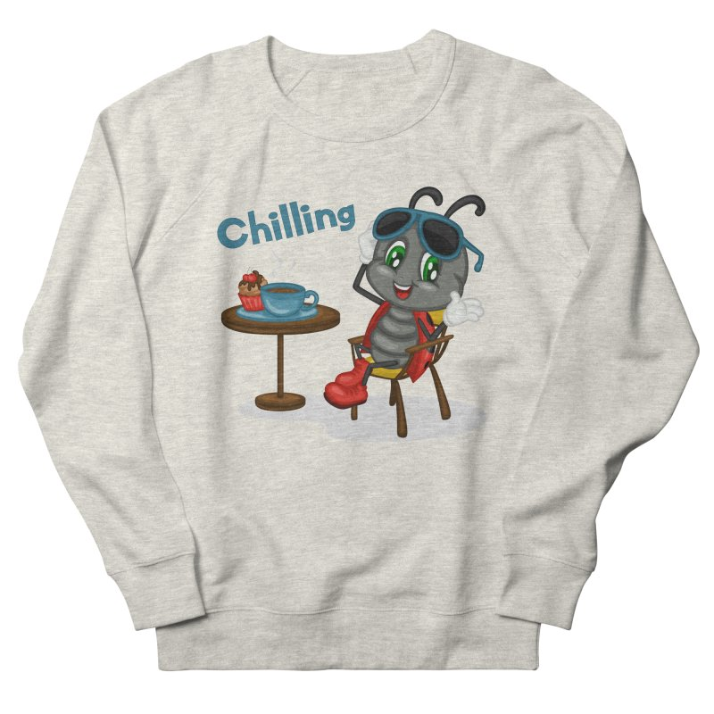 Ladybug Chilling Men's French Terry Sweatshirt by BubaMara's Artist Shop
