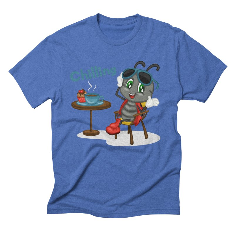 Ladybug Chilling Men's Triblend T-Shirt by BubaMara's Artist Shop
