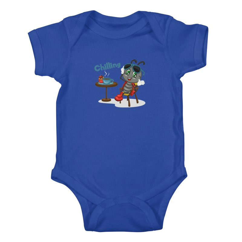 Ladybug Chilling Kids Baby Bodysuit by BubaMara's Artist Shop
