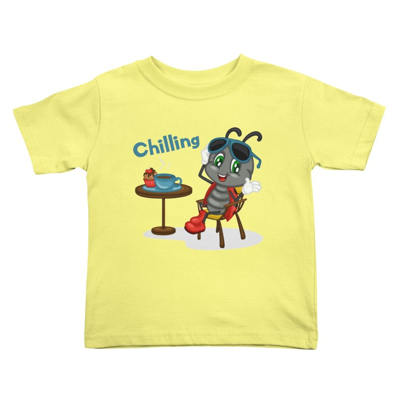 Ladybug Chilling Kids Toddler T-Shirt by BubaMara's Artist Shop