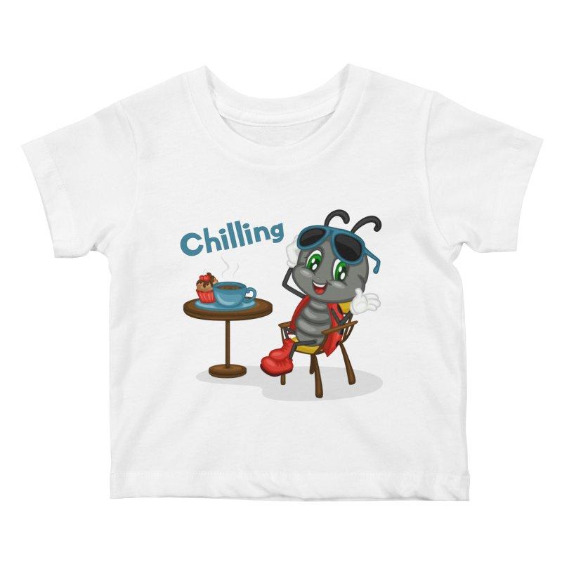 Ladybug Chilling Kids Baby T-Shirt by BubaMara's Artist Shop