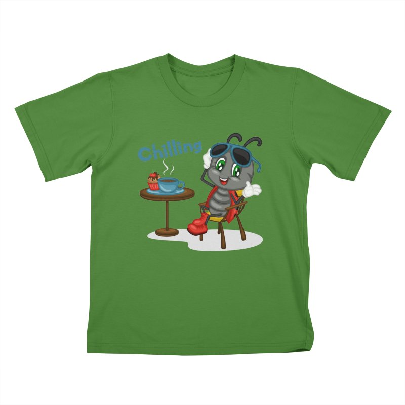 Ladybug Chilling Kids T-shirt by BubaMara's Artist Shop