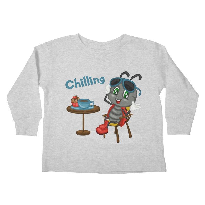 Ladybug Chilling Kids Toddler Longsleeve T-Shirt by BubaMara's Artist Shop