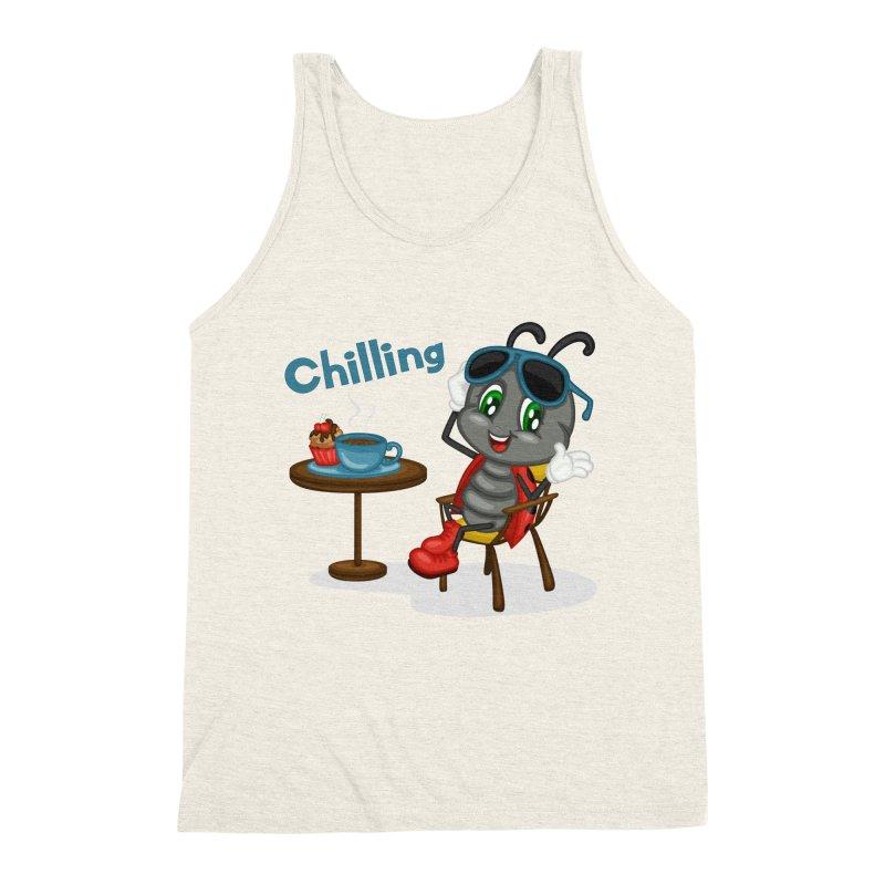 Ladybug Chilling Men's Triblend Tank by BubaMara's Artist Shop