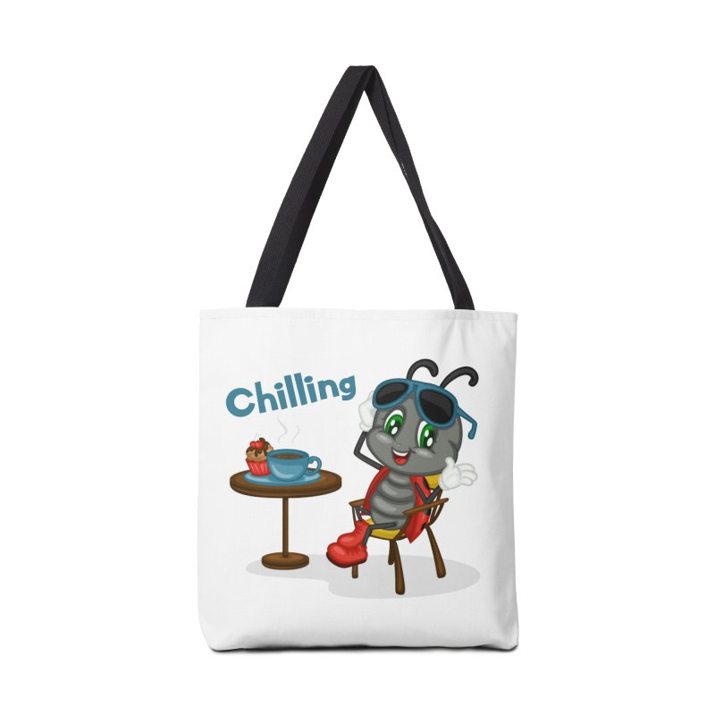 Ladybug Chilling Accessories Tote Bag Bag by BubaMara's Artist Shop