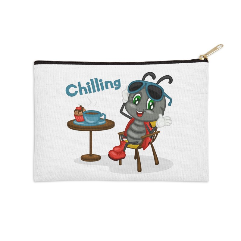 Ladybug Chilling Accessories Zip Pouch by BubaMara's Artist Shop