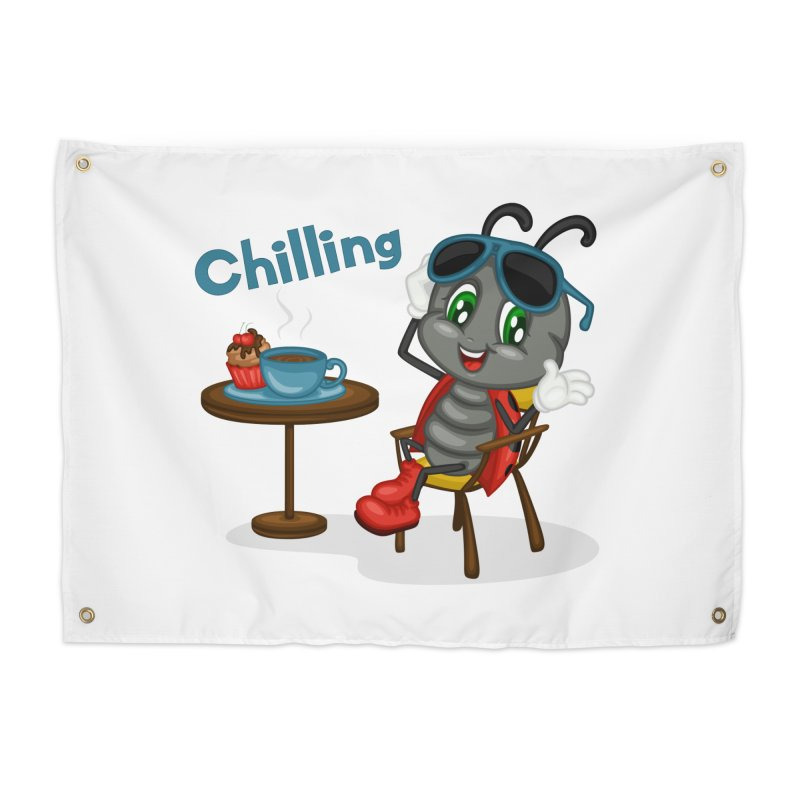 Ladybug Chilling Home Tapestry by BubaMara's Artist Shop